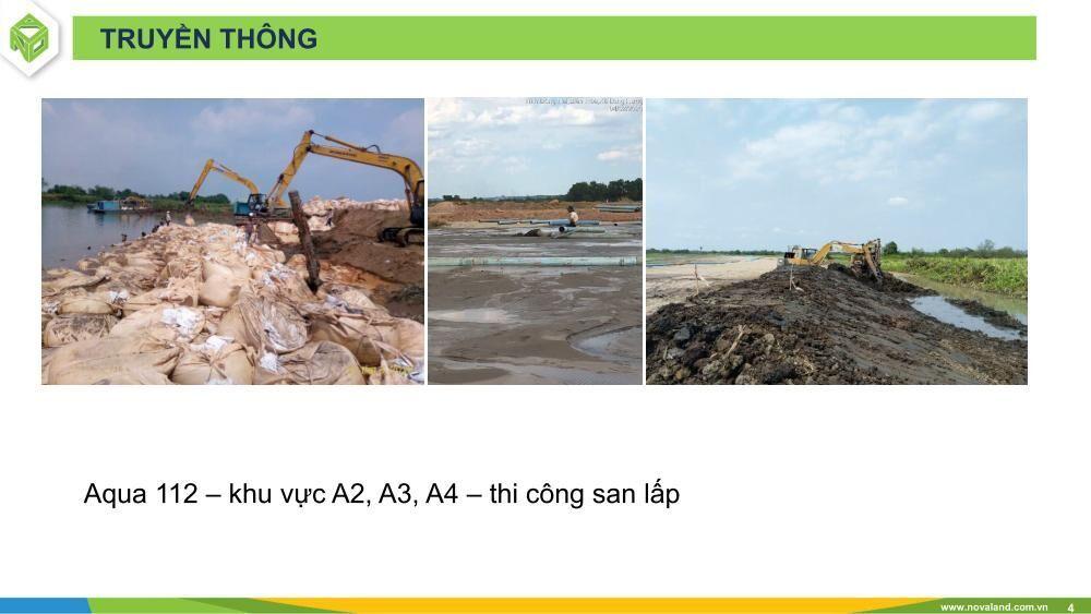 Tiến độ dự án Aqua City tháng 04/2020